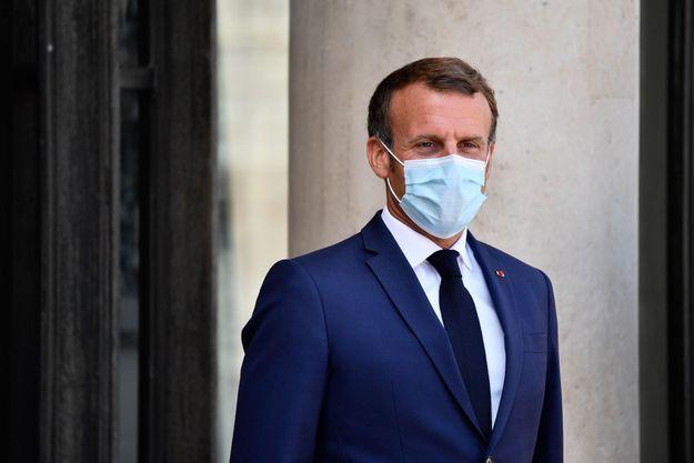 Emmanuel Macron le 26 aout 2020.