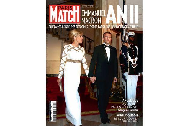 Avec Brigitte, lors du dîner d'Etat à la Maison-Blanche, le 24 avril.