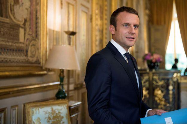 Emmanuel Macron, à l'Elysée en juin dernier.
