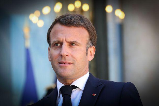 Emmanuel Macron ici à l'Elysée fin avril.