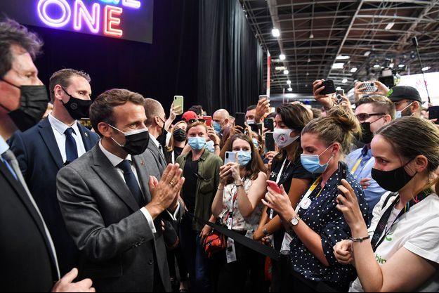 Emmanuel Macron à Vivatech mercredi.