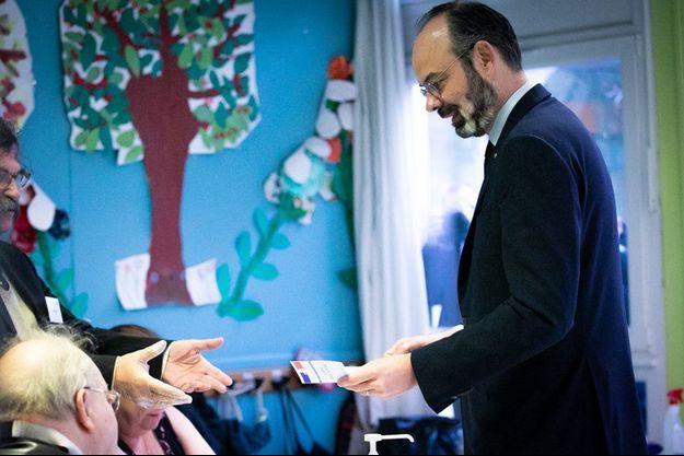 Le Premier ministre Edouard Philippe a voté au Havre.