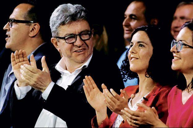 Jean-Luc Mélenchon et Manon Aubry en meeting à Marseille le 11 mai.