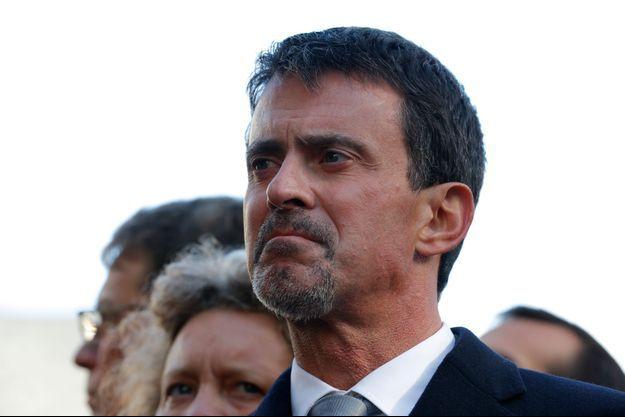 Manuel Valls, lundi lors des commémorations des attentats du 13 novembre 2015.