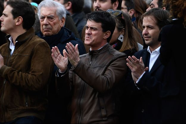 Manuel Valls dimanche à Madrid.