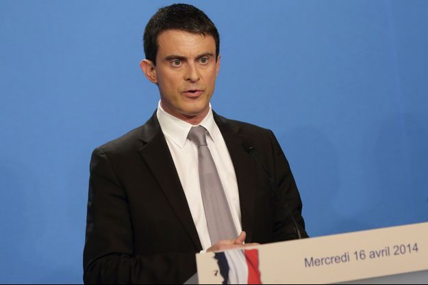 Manuel Valls mercredi, lors de sa déclaration après le Conseil des ministres.