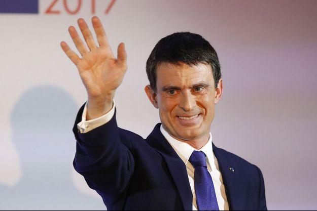 Manuel Valls lors de la primaire PS.