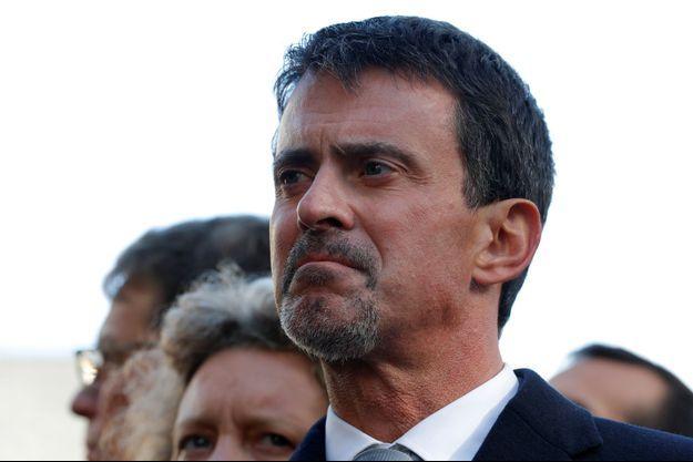 Manuel Valls, lors des cérémonies du 13 novembre 2017.