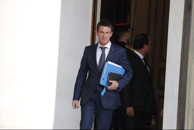 Manuel Valls lors du conseil des ministres, à l'Elysée, mercredi dernier.