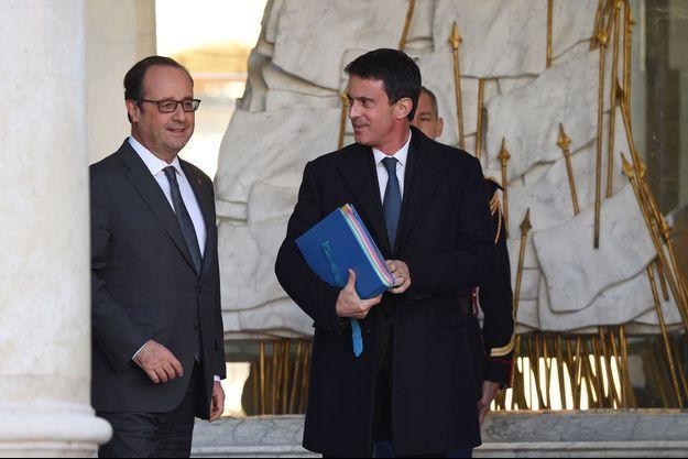 François Hollande et Manuel Valls le 30 novembre 2016.