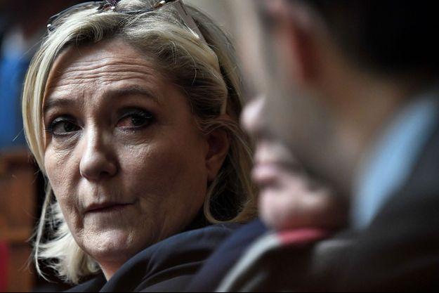 Marine Le Pen à l'Assemblée nationale, en février 2019.