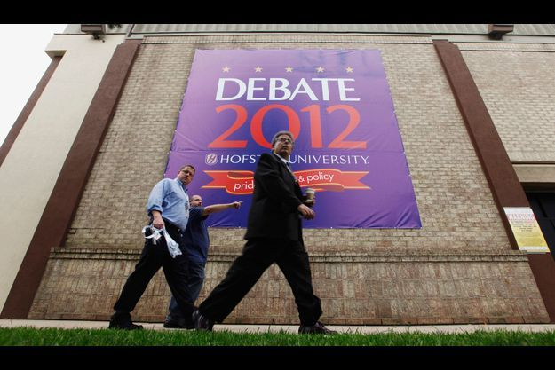 Le bâtiment de l'Hofstra University à Hempstead,dans l'Etat du New York, où se tient le débat entre les deux candidats.