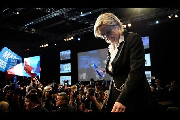 Marine Le Pen au soir du 22 avril.