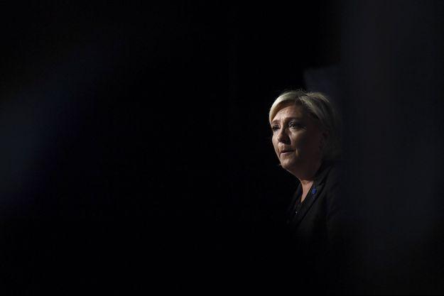 Marine Le Pen à Monswiller, le 5 avril dernier.