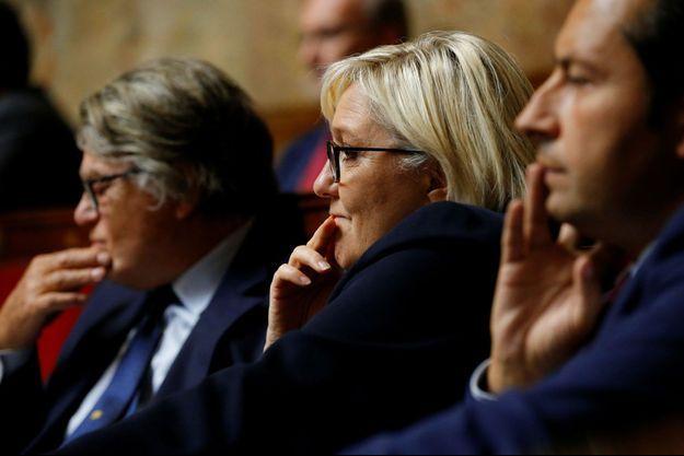 Marine Le Pen à l'Assemblée nationale le 26 septembre.