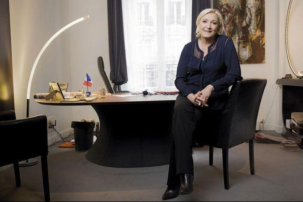 La candidate à l'Escale, son QG de la rue du Faubourg- Saint-Honoré, dans le VIIIe arrondissement de Paris, le 30 avril.