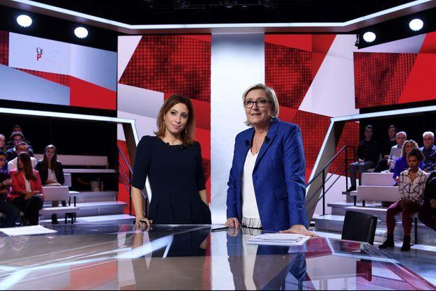 """Marien Le Pen était invitée de """"L'Emission politique"""", présentée par Léa Salamé."""