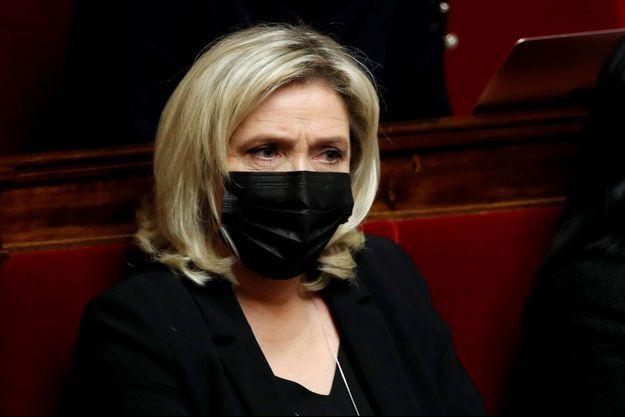Marine Le Pen le 12 janvier 2021.