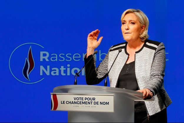 Marine Le Pen à Lyon, le 1er juin.