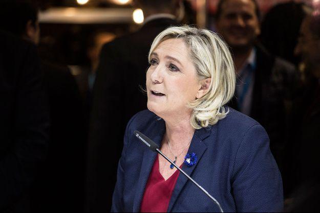 Marine Le Pen au salon Made in France à Paris, le 12 novembre 2018
