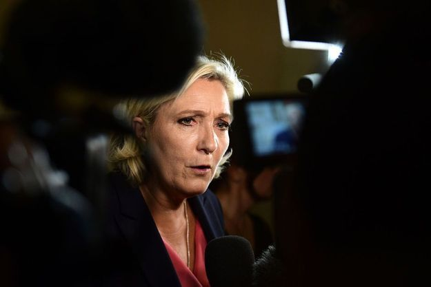 Marine Le Pen à Versailles, le 3 juillet 2017.