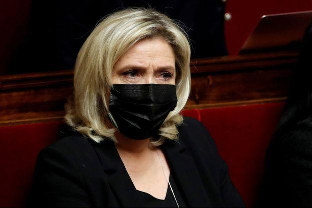 Marine Le Pen, en janvier à l'Assemblée nationale en janvier.