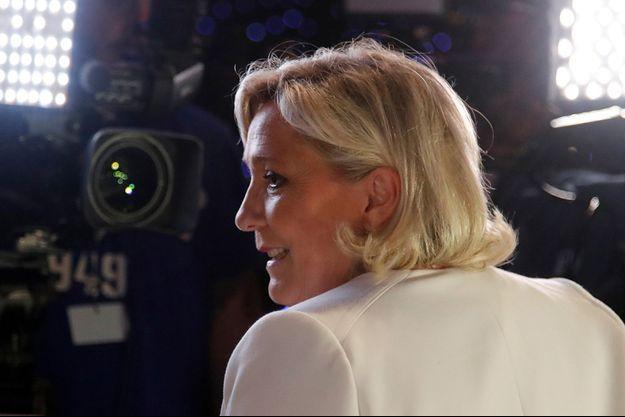 Marine Le Pen, ici en mai à Paris lors des résultats des élections européennes.