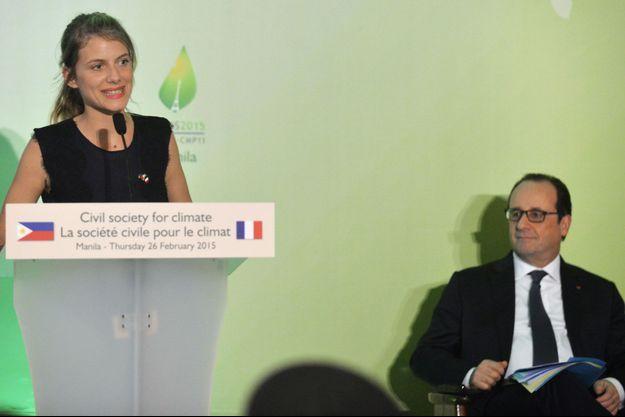 Mélanie Laurent a pris la parole devant le président de la République, François Hollande.