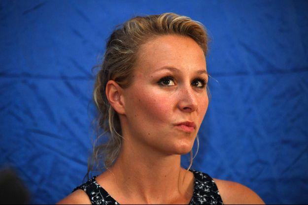 Marion Maréchal ici en juin 2017 lors d'un meeting dans le Gard.