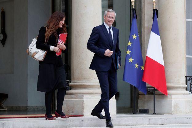 Marlène Schiappa et Bruno Le Maire en mai à l'Elysée.