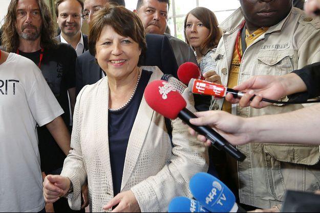 Martine Aubry au congrès du Parti socialiste à Poitiers, le 6 juin.