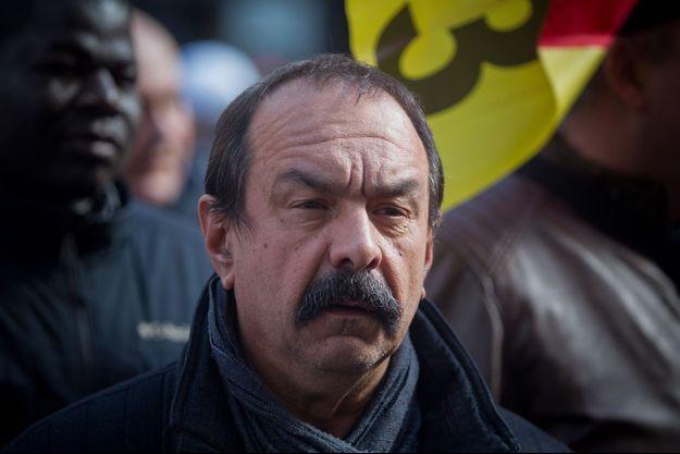 Le secrétaire général de la CGT Philippe Martinez, le 19 mars à Paris.
