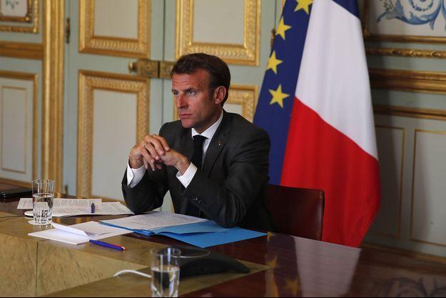 Emmanuel Macron, ici à l'Elysée lundi.