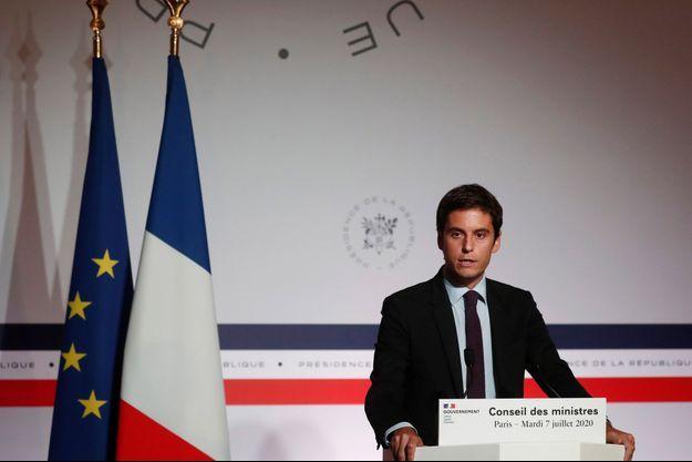 Gabriel Attal, le 7 juillet à l'Elysée en marge du Conseil des ministres.