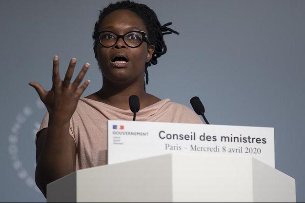 Sibeth NDiaye à l'issue du Conseil des ministres du 8 avril.