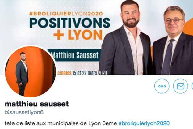 Capture d'écran du profil Twitter de Matthieu Sausset.
