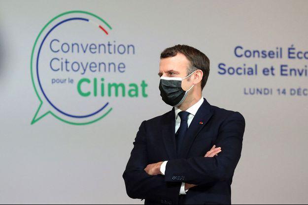 Emmanuel Macron lors de la Convention citoyenne pour le climat (CCC).