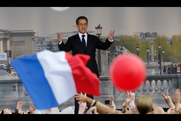 Nicolas Sarkozy, place de la Concorde.
