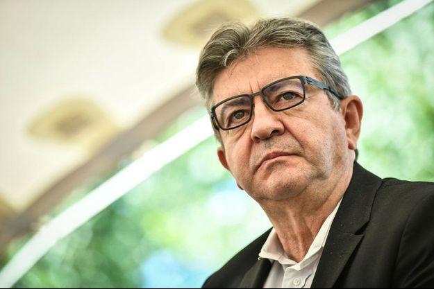 Jean-Luc Mélenchon en juillet à Couthures sur Garonne.