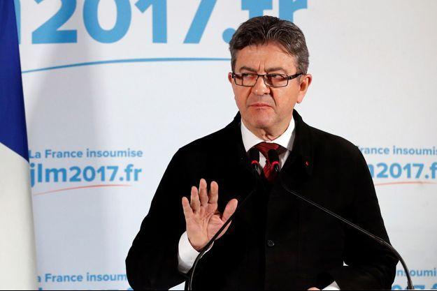 Jean-Luc Mélenchon le soir du premeir tour de la présidentielle.