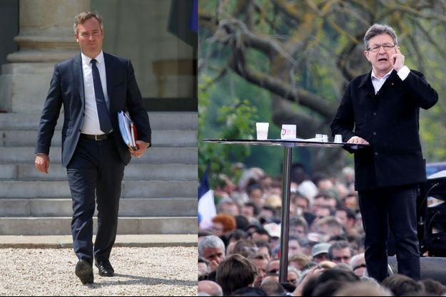 Jean-Baptiste Lemoyne et Jean-Luc Mélenchon.