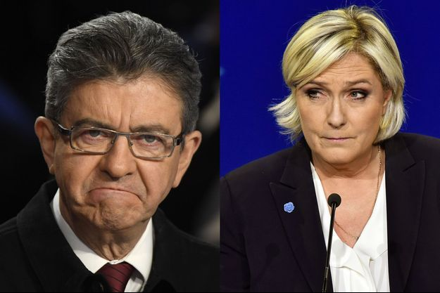 Jean-Luc Mélenchon et Marine Le Pen.