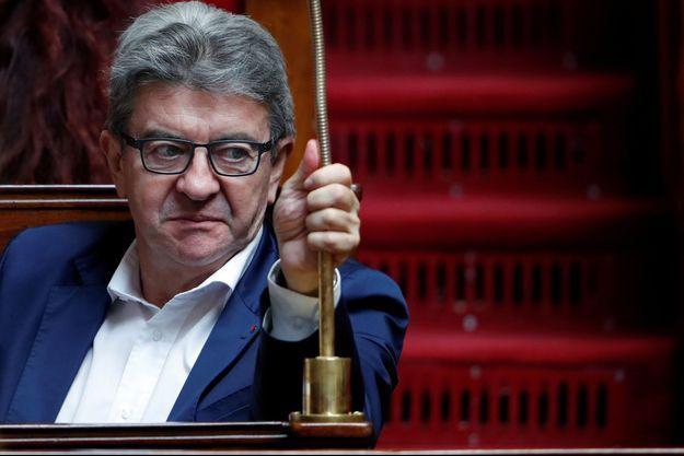 Jean-Luc Mélenchon en septembre à l'Assemblée.