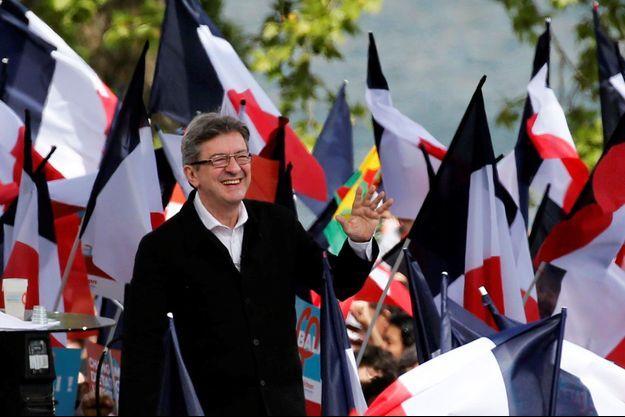 Jean-Luc Mélenchon, dimanche en meeting à Toulouse.
