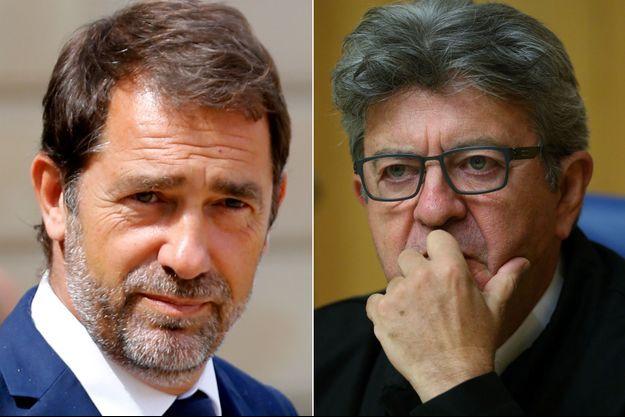 """Castaner a demandé à Mélenchon de s'excuser après avoir dénoncé la répression """"barbare"""" des forces de l'ordre."""