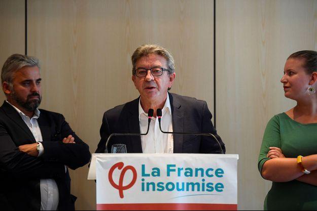 Jean-Luc Mélenchon lors d'une conférence de presse jeudi à Paris.