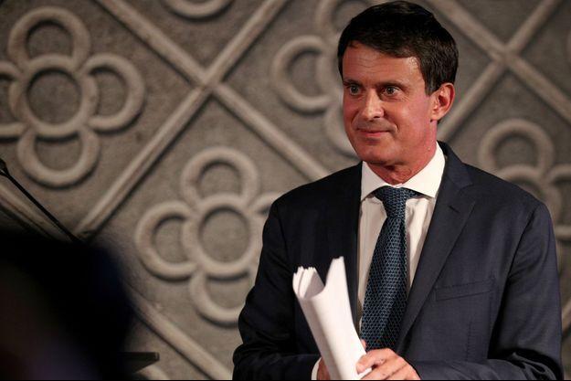 Manuel Valls la semaine dernière lors de l'annonce de sa candidature à Barcelone.