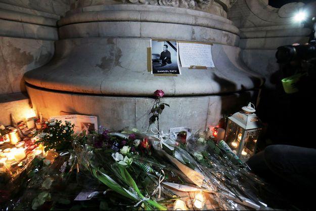 L'hommage rendu à Samuel Paty à Nice.