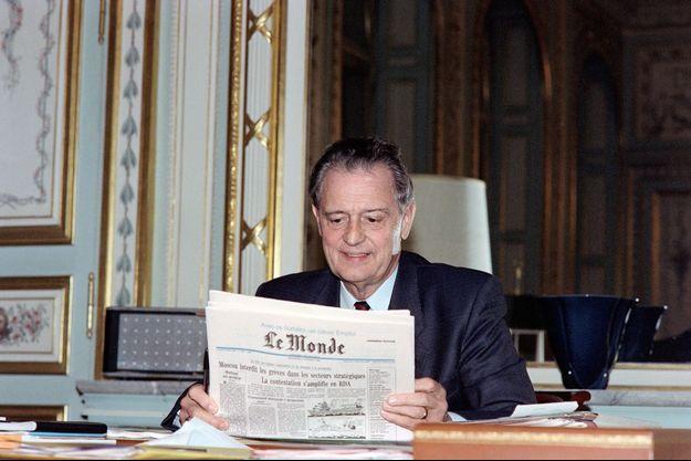 Michel Durafour en octobre 1989.