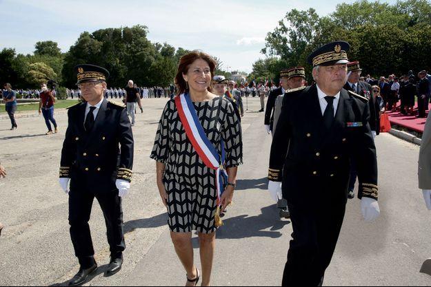 A Marseille, première sortie officielle de Michèle Rubirola à l'occasion de la cérémonie nationale du 14-Juillet.